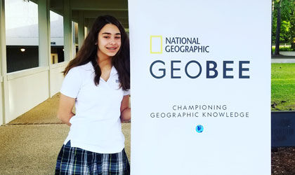 Cecile Thomas '23 places fifth in Louisiana State GeoBee
