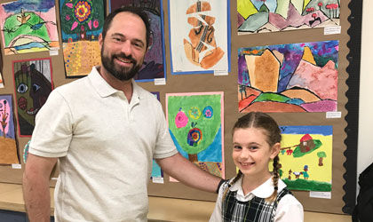 Third and fourth graders host student art show