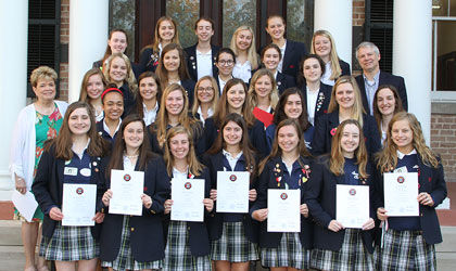 Upper School students inducted into national French and Spanish honor societies