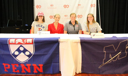 Two ASH seniors commit to collegiate athletics