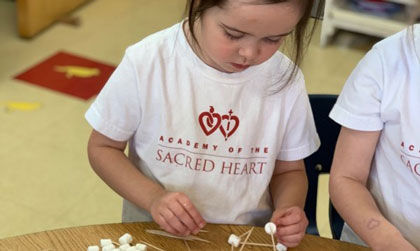 Little Hearts three-year-olds practice engineering skills